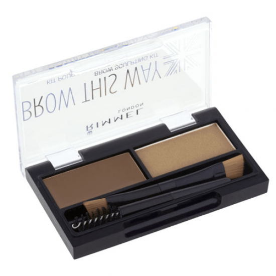 Rimmel London Brow This Way Eyebrow Powder Kit - Med Brown